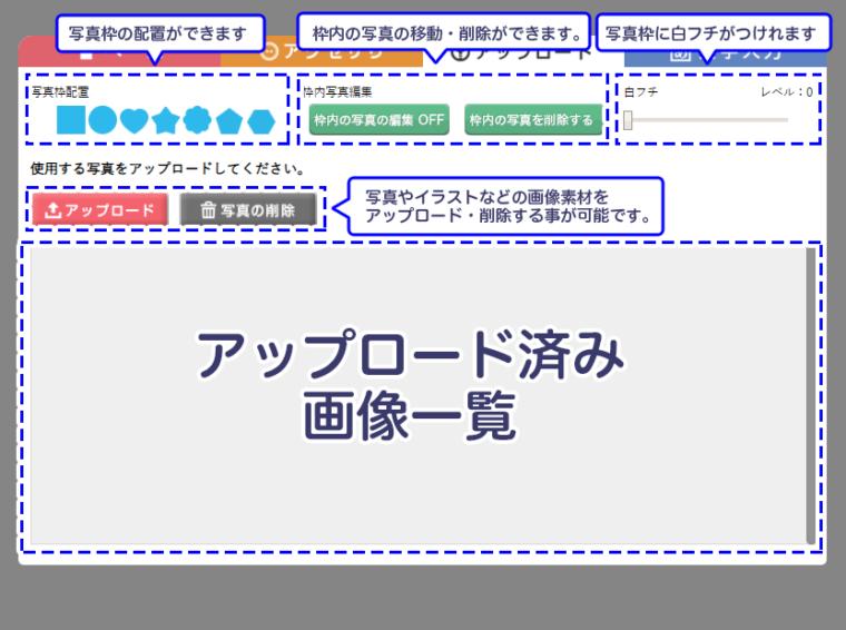 アップロード画面紹介